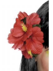 Hawaiian Red Flower Hair Clip
